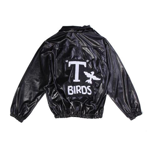mens t bird grease jacket t birds jacket 1950 mens 50s black leather danny t