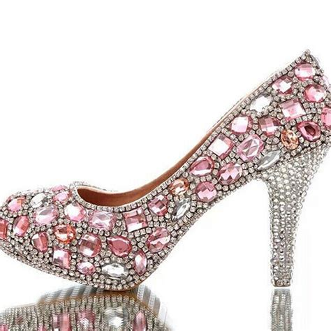 15 Most Beautiful Evening Shoes by Gorgeous Rhinestone High Heels Beautiful Pink