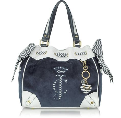 Couture Preppy Sailing Tote Establishment Slouch Bag by Couture All Aboard Velour Daydreamer Tote At Forzieri Uk