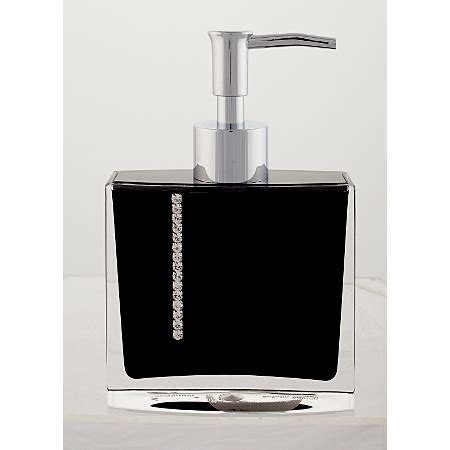 black diamante bathroom accessories george home black diamante dispenser bathroom