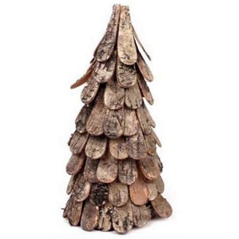 birch bark christmas tree 28cm 25986 christmas trees