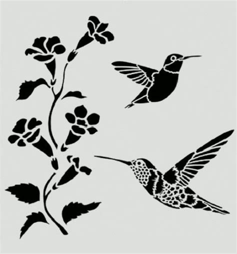 paper hummingbird template hummingbird stencil hummingbirds flowers bird birds