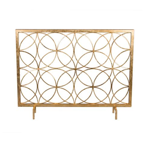 single panel fireplace screen gold antique gold circles fireplace screen dessau home screens