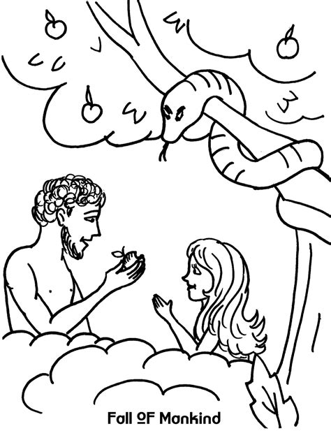 Genesis 3 Coloring Page fall of mankind coloring sheet wesleyan
