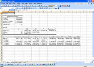 regression analysis excel template advanced regression with microsoft excel chem lab