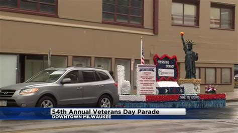 cbs 58 veterans give blood veterans day parade in milwaukee met with sparse