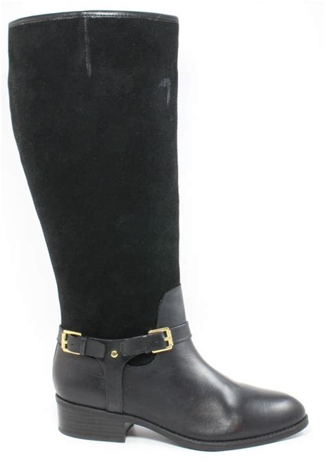 ralph womens wide calf 8 5 black marion leather