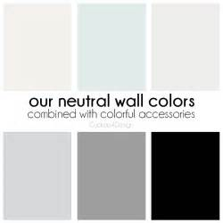 neutral wall colors creating a colorful home with neutral walls cuckoo4design