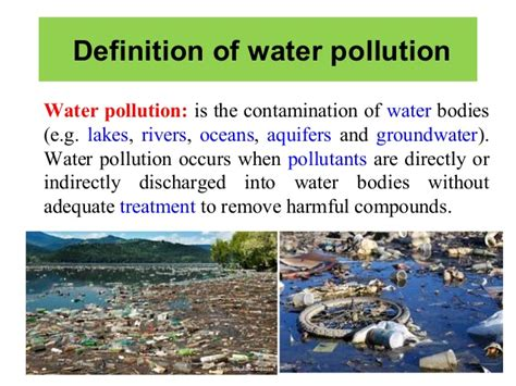 what does water mean water pollution