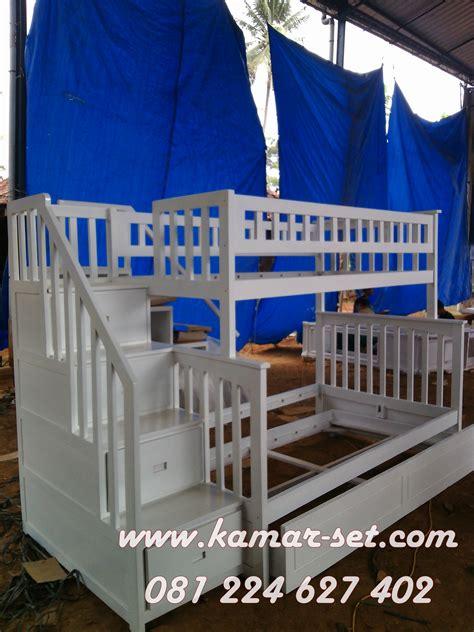 Ranjang Laci ranjang 3 susun laci sorong tangga berlaci pesanan ibu