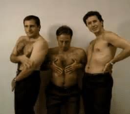 Gif stephen colbert steve carrell jon stewart shirtless