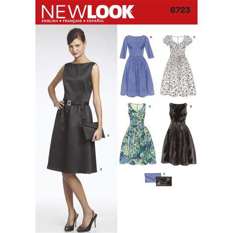 pattern review new look 6723 pattern for misses dresses simplicity