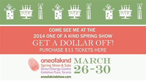coupon for the one of a kind show spring 2014 toronto