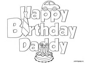 happy birthday daddy for kids free coloring pages on art