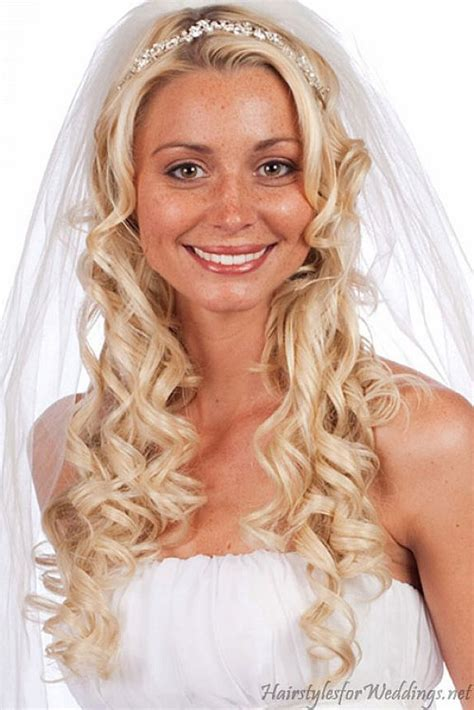 bridal hairstyles on facebook wedding long curly down hairstyles with veil makeup