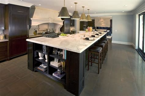 brilliant large island kitchen traditional with leather