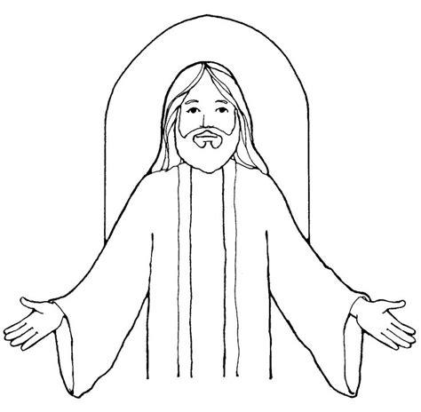 coloring page of jesus face 0 jesus clipart clipart fans