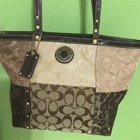 Coach Patchwork Shoulder Bag - 63 coach handbags coach patchwork tote shoulder bag