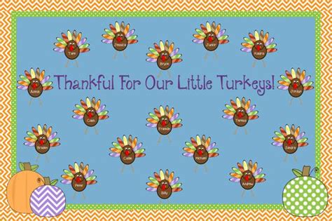 thankful for our little turkeys thanksgiving bulletin board