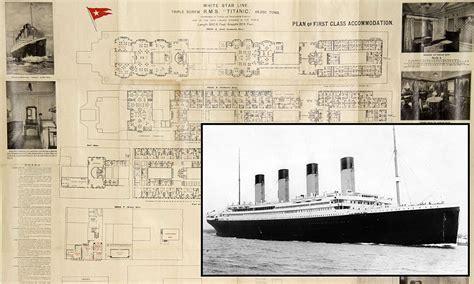 titanic floor plan rare titanic deck plan that belonged to doomed first class
