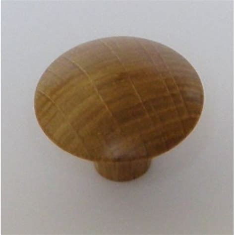 Oak Knobs by Knob Style J 44mm Oak Lacquered Wooden Knob