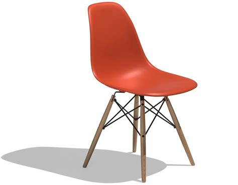 Molded Chair by Eames 174 Molded Plastic Side Chair With Dowel Base