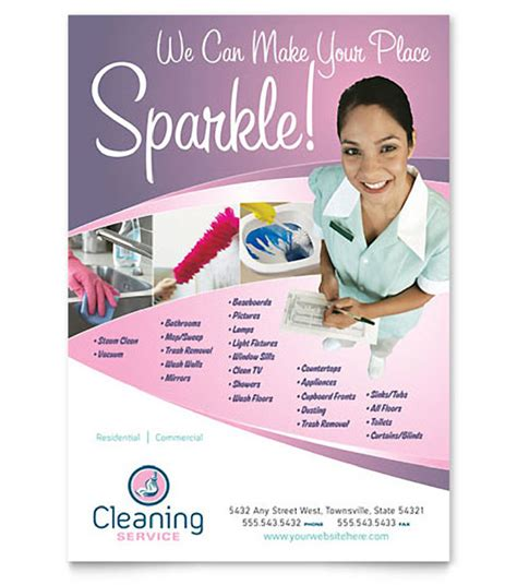 cleaning services advertising templates cleaning business flyer templates templates resume