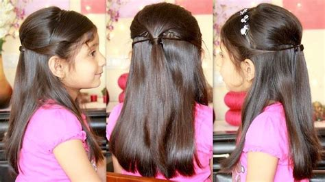 """Simple Hairstyle For Small Girls At Home Party Hairstyle With """"missanand""""   Youtube   Girly"""