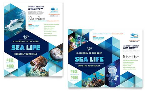 templates for designing posters ocean aquarium poster template design