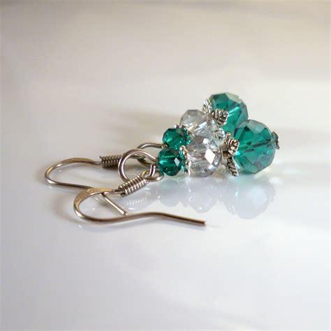 Handmade Drop Earrings - handmade swarovski drop earrings w by