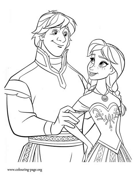 frozen wedding coloring pages princess anna and kristoff make a beautiful couple enjoy