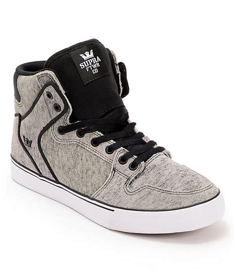 supra vaider scorched grey black suede skate shoes at