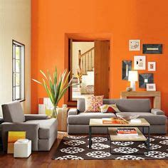 Gray Living Room With Orange Accents 1000 Ideas About Orange Rooms On Orange Room