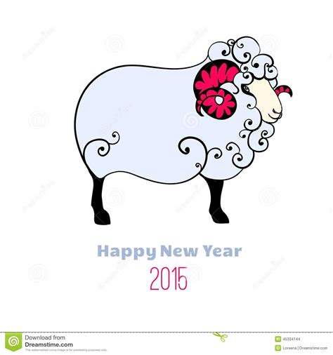 new year 2015 is it goat or sheep happy new year 2015 year of the sheep stock vector