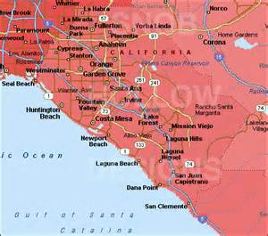 orange county california color map