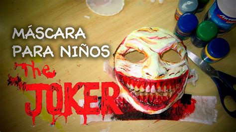 hacer una mascara de joker  ninos en halloween diy