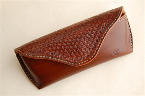Handmade Leather Pouch - sunglasses handmade leather brown leather glasses