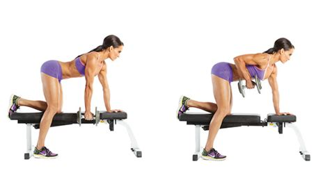 dumbbell bench row one arm dumbbell row