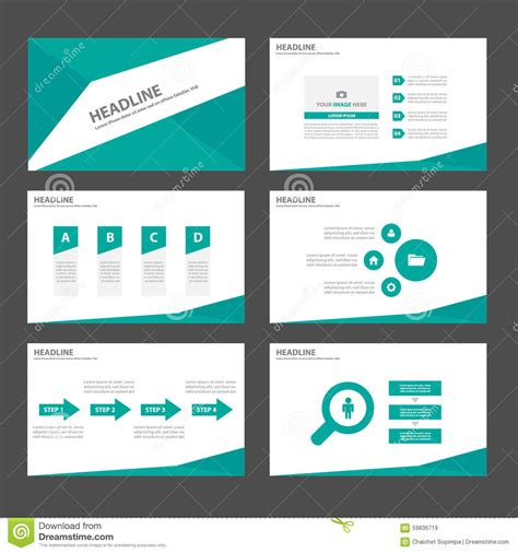 Green Infographic Elements Icon Presentation Template Flat Flat Design Presentation