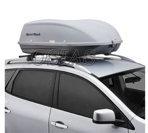 bars on top of car car cargo box roof top carrier mount travel storage