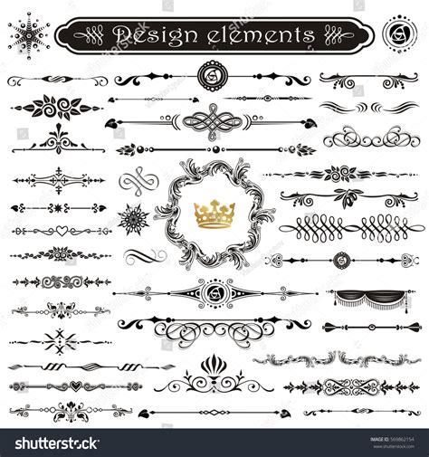page design elements vector vector set calligraphic design elements page stock vector