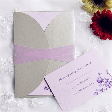 light purple wedding invitations 2014 new collection of pocket wedding invitations at