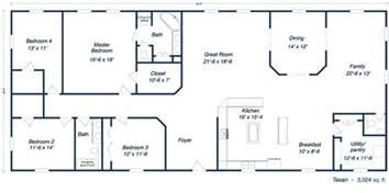Building Floor Plans by Metal Building Homes For Sale