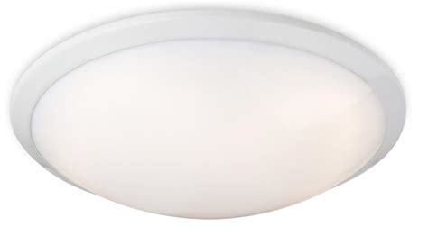 Ceiling Light Trim by Firstlight Ascot White Low Energy Flush Ceiling Light With