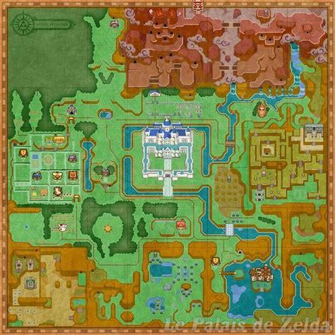 legend of zelda map size plans d hyrule de a link between worlds le palais de zelda