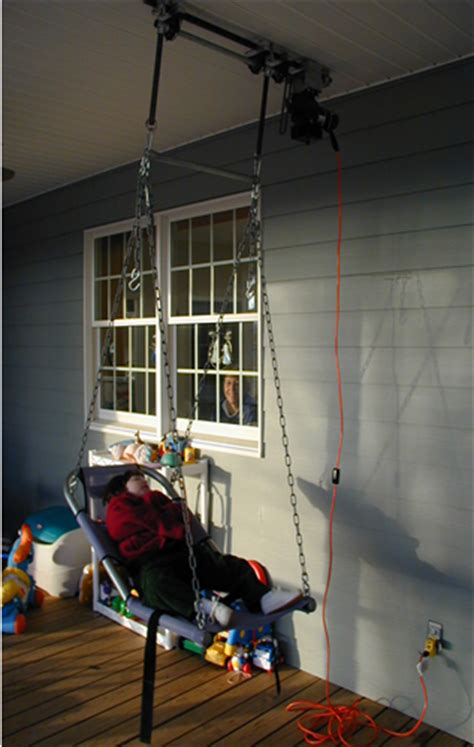 swings for adults with disabilities motorized swing from suspended rings 171 assistive