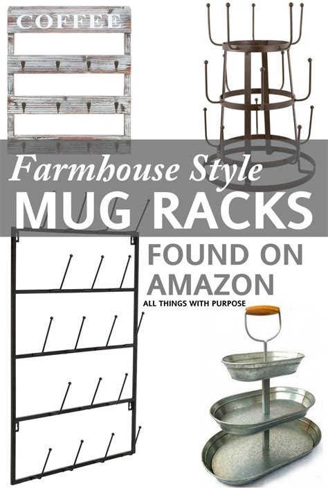 Metal Backsplash Kitchen farmhouse style mug racks