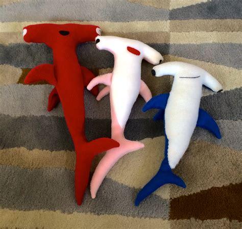 Shark Plushie cation designs hammerhead shark plushie pattern and tutorial