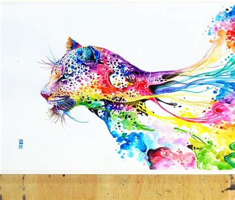 leopard watercolor by art jongkie no 745