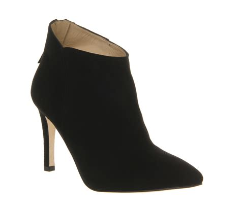boot and shoe poste catherine shoe boots black suede high heels